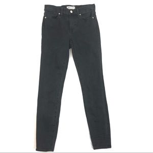 Madewell High Riser Skinny Jeans Washed Black 25